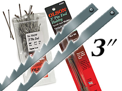 3 In Pin End Blades 6 Pack Pin End Scroll Saw Blades