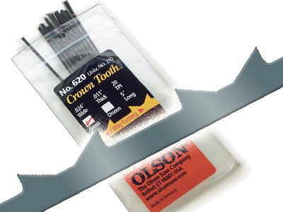 Crown Tooth™ Scroll Saw Blades 5-in. long